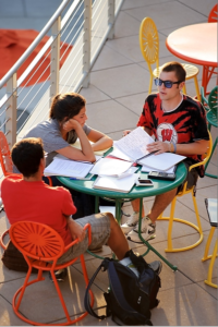 Summer Term students study at Union South.
