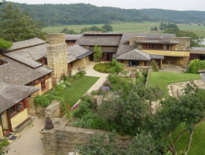 Frank Lloyd Wright's Taliesen draws inspiration from the unique topography of Wisconsin's Driftless Area.