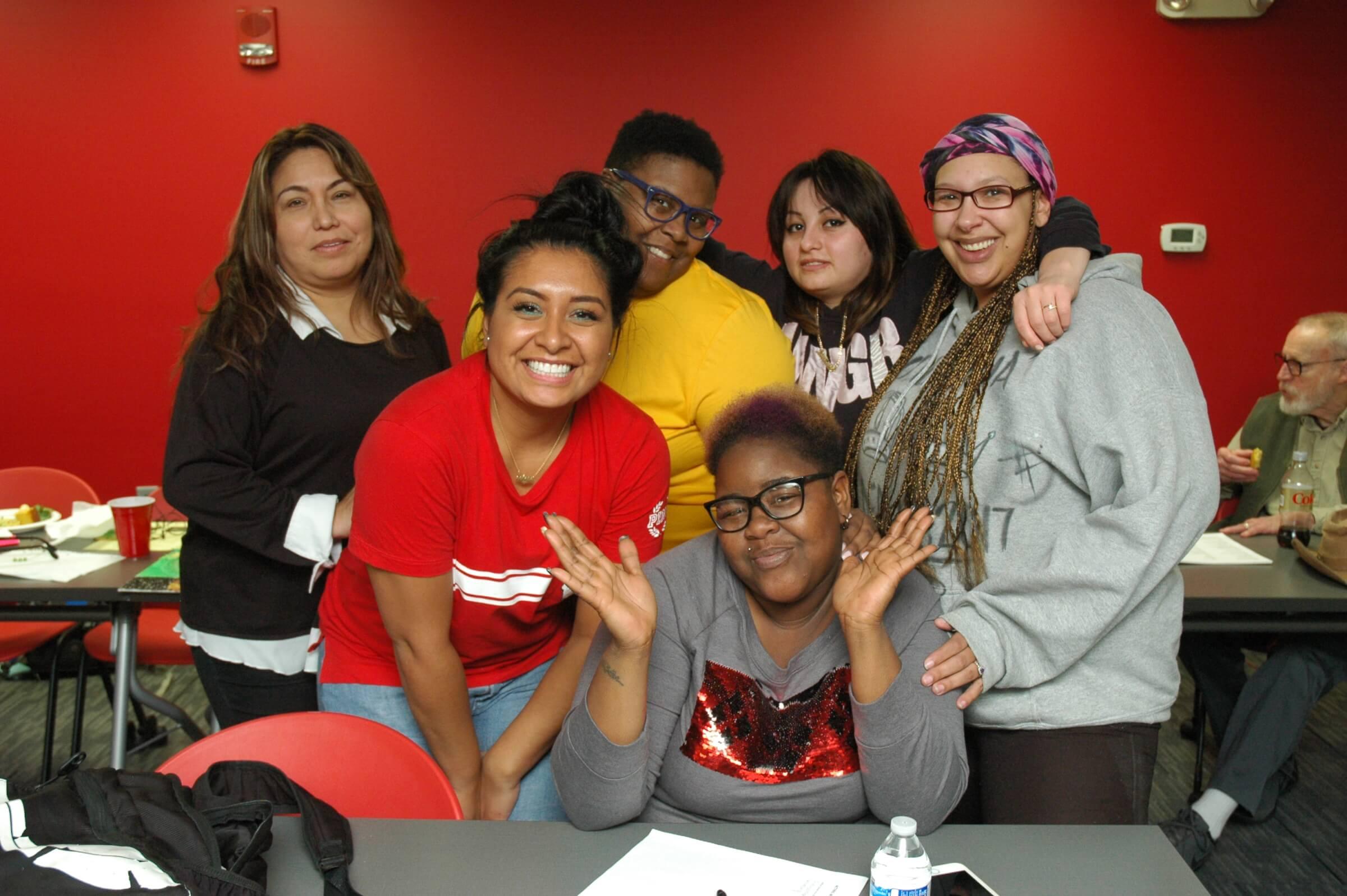 Tandalaya Taylor and her Odyssey classmates