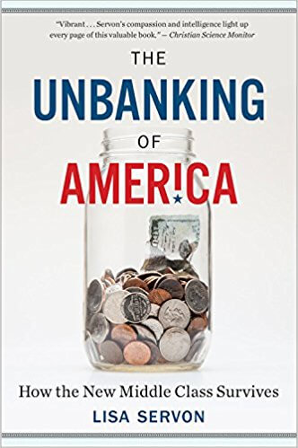 Book cover: The Unbanking of America