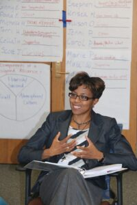Ndidi Yacher in class